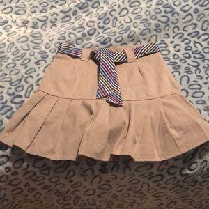 Girls beige skort with belt